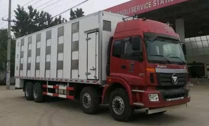 9.5米福田前四后八畜禽运输车图片