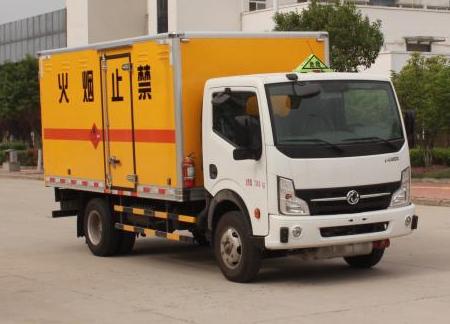 东风凯普特4米厢式危险品气瓶运输车