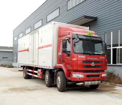 柳汽乘龙9.55米易燃气体厢式运输车