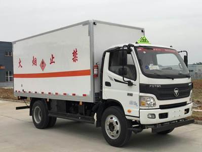 5米7吨福田欧马可易燃固体厢式运输车